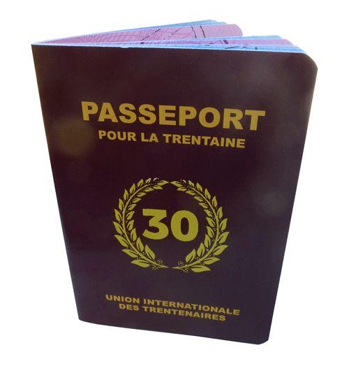 Livre d'or d'anniversaire de 30 ans : le passeport pour la trentaine