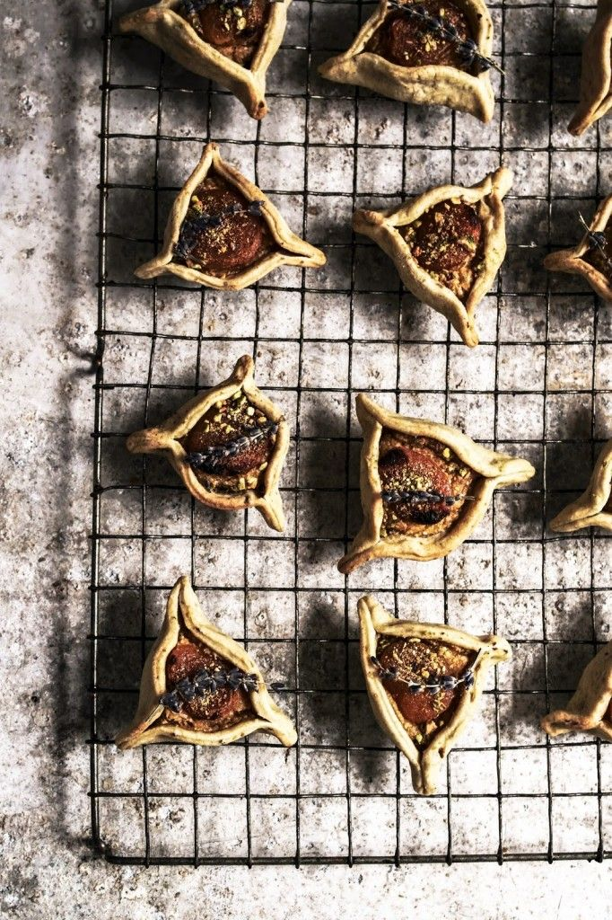 apricot almond tarts with lavender pistachio pastry - twigg studios