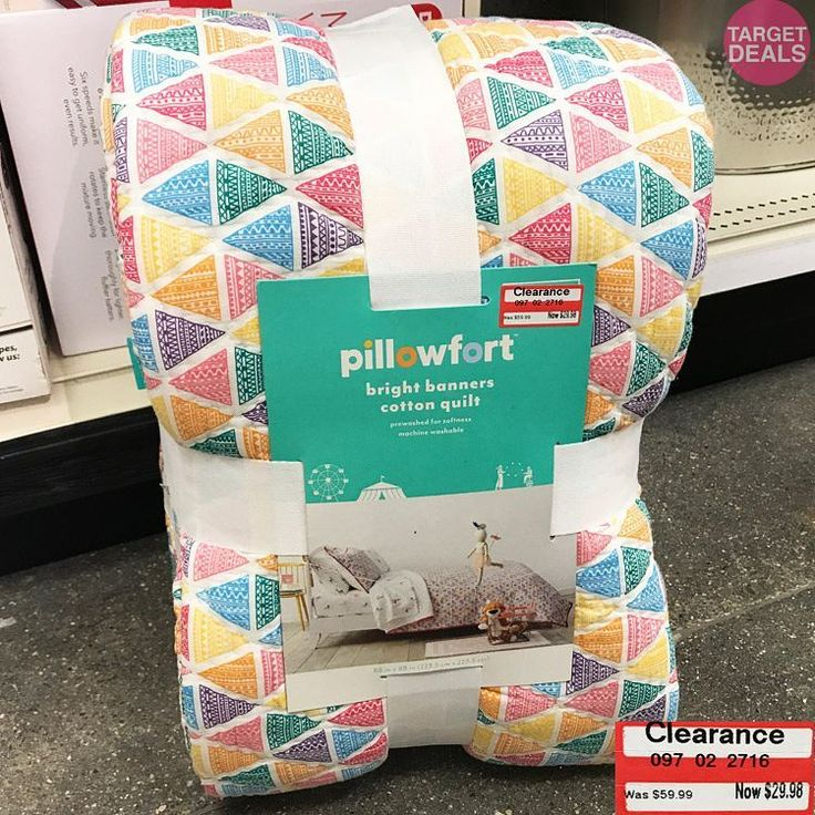 """687 Likes, 6 Comments - Target Deal Finder 🎯 Community (@targetdealfinder) on Instagram: """"🎯😍 50% Off Pillowfort Triangle Print Quilt Clearance Find at Target! 🔹As usual, clearance selection…"""""""