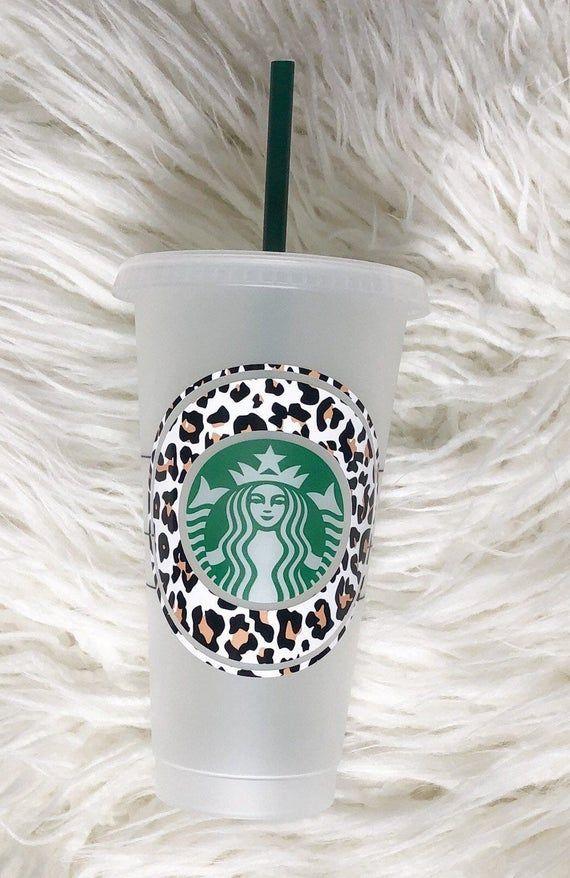 Cheetah Print custom Starbucks cold cup