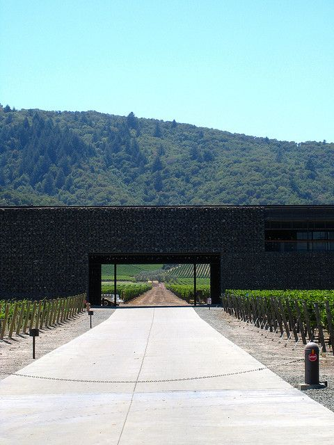 Dominus winery by Herzog & He Meuron - Napa Valley California 1998