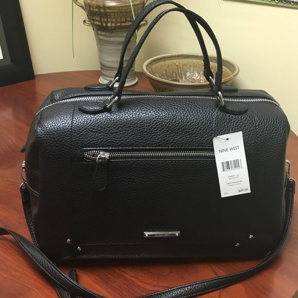 Nine west black and brown purse