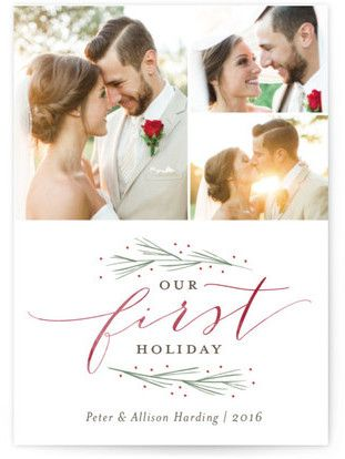 Our First Married Christmas Holiday Petite Cards