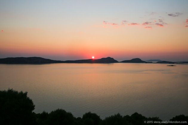 Sunset in Costa Navarino, Greece