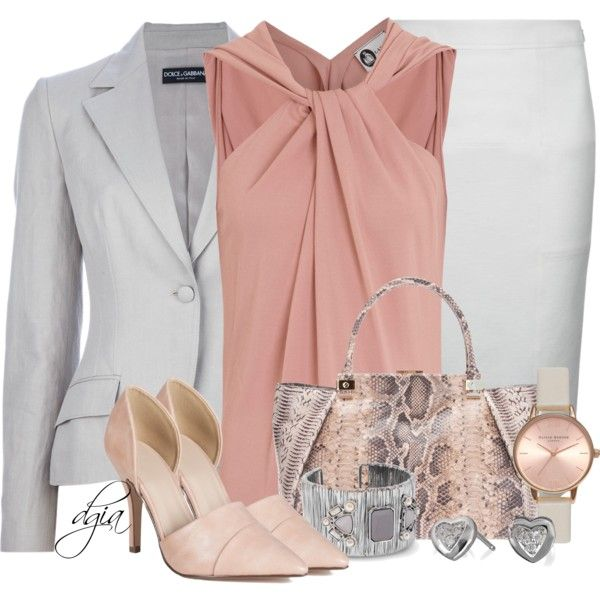 Wit, grijs & perzik kleding