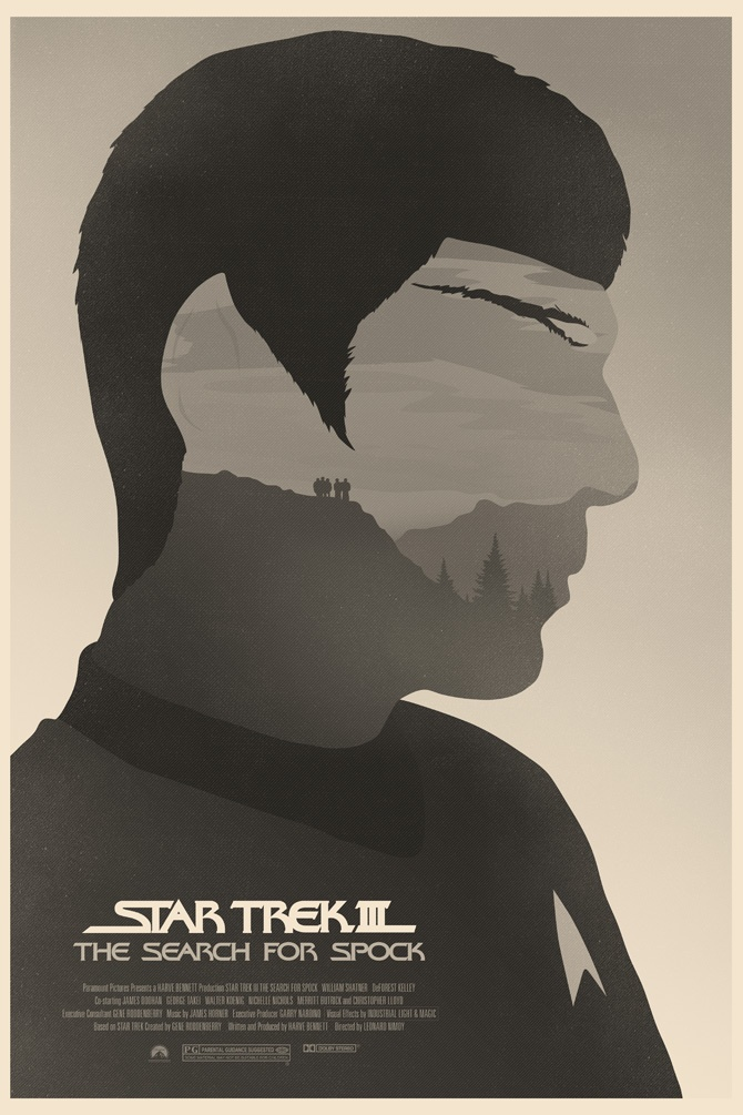 star trek poster from illustrator simon c