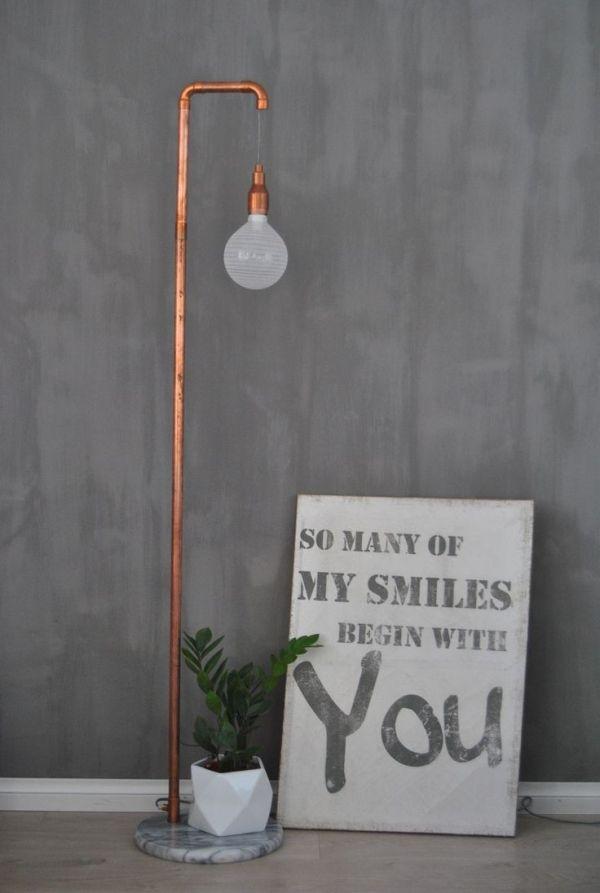 Kalklitir Doloriet, DIY copper pipe lamp, quote by Tebogo Mosiane