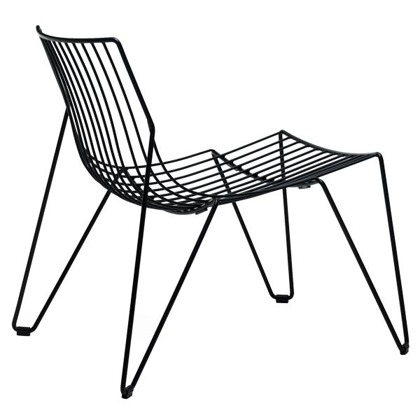 Tio easy chair, black, by Massproductions.