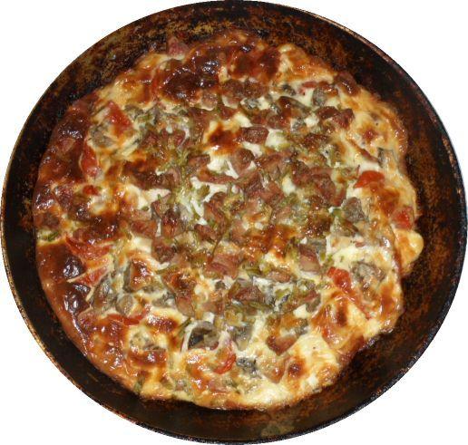Самая ленивая пицца. Рецепт 2 (на картофеле) - The lazy pizza. Recipe 2 (on potato). Подробнее здесь http://intipol.ru/Pages/kulinarvipechka_lenivayapica2.html