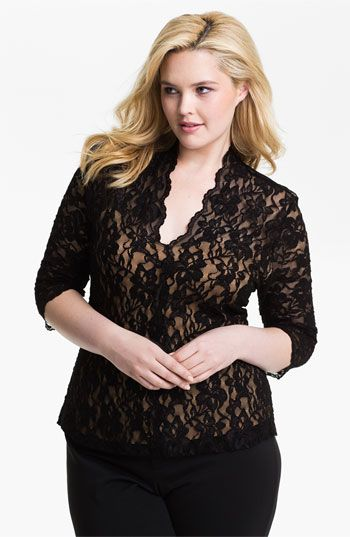 Karen Kane 'Kate' Lace Top (Plus) | Nordstrom