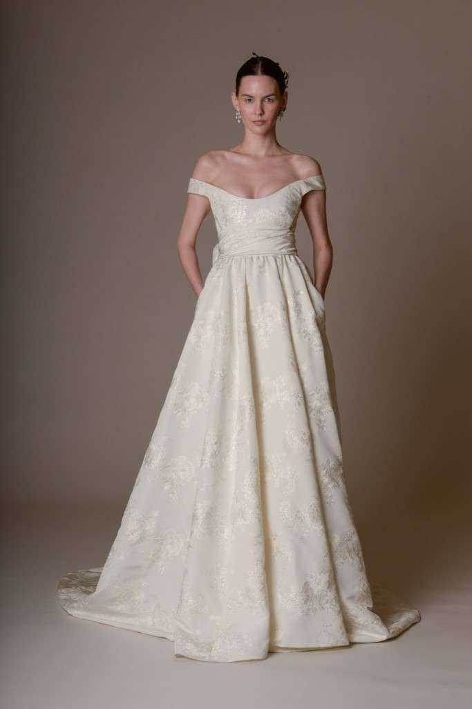 Abiti da sposa Marchesa  2016 - Marchesa abito broccato