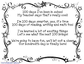 Poem for the 100th Day of School plus other FREE printables