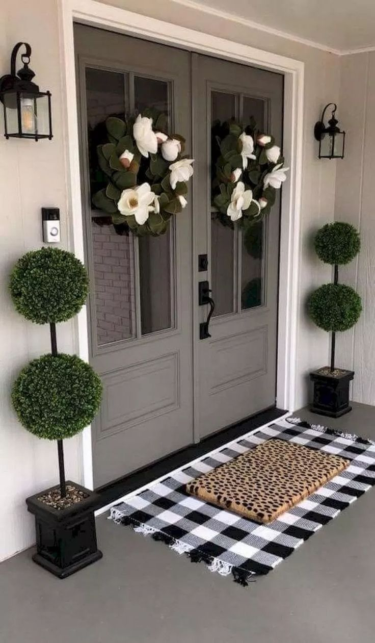 ✔76 gorgeous farmhouse front porch decor ideas 32