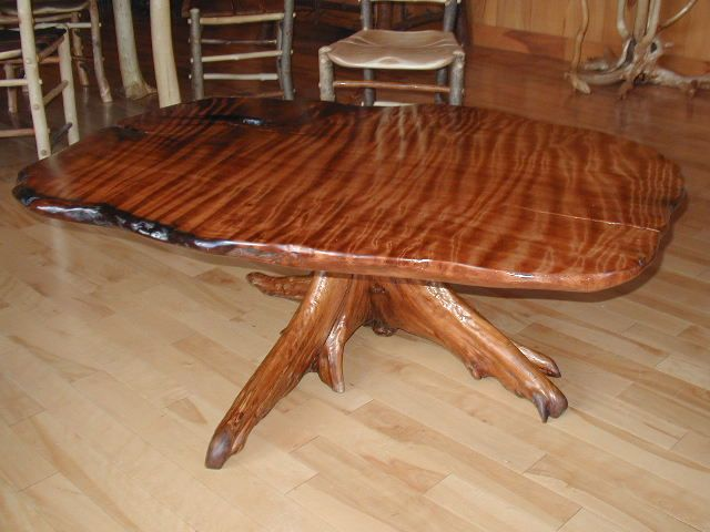 Old growth redwood table.......I want!