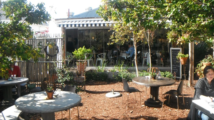 Starlings Cafe in Rondebusch, Cape Town. This place enchanted me the moment I walked in. Garden courtyard, delightful interior. Just quaint. Good internet too.