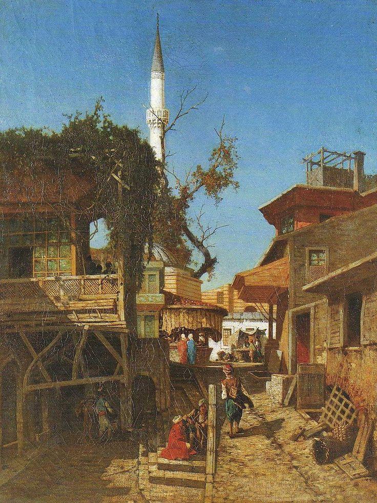 Carrefour Hagia Sophia in Constantinople - Fabius Brest (1823-1900) — Wikipédia