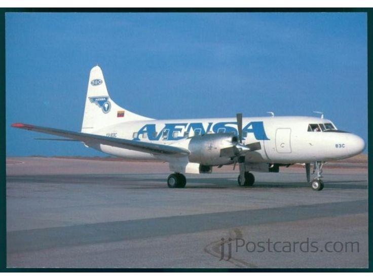 Convair 580 (YV-83C, c/n 496) of AVENSA (Aerovias Venezolanas S.A.) at Porlamar airport in April 1988. Converted from CV-440-4.