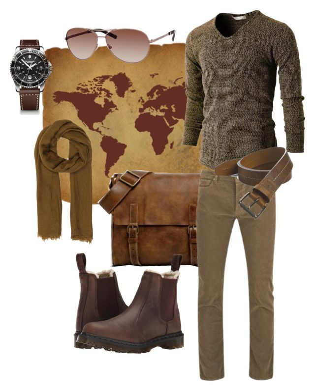 """""""My Practical Adventurer"""" by regalgypsy on Polyvore featuring Marc by Marc Jacobs, Rick Owens, Paul Smith, Trask, Dr. Martens, TW Steel, men's fashion and menswear"""