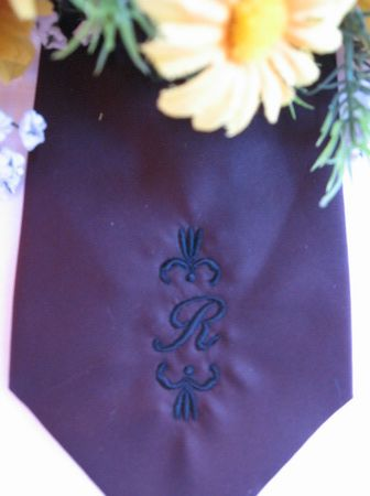 BES175 - Tie Monogram Give your Dad a Neck Tie with his very own Monogram on! Perfect for any occassion! http://tinyurl.com/jllw4pr