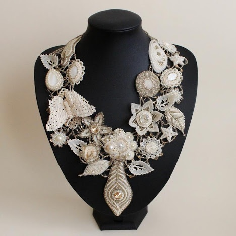 amazing necklace made by polish artist for charity auction