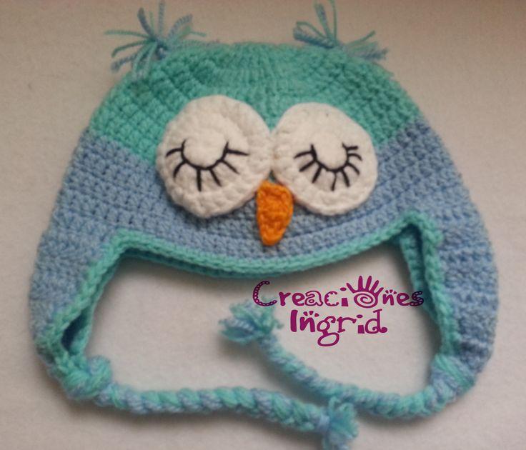 Gorro Buho / Owl Crochet Hat