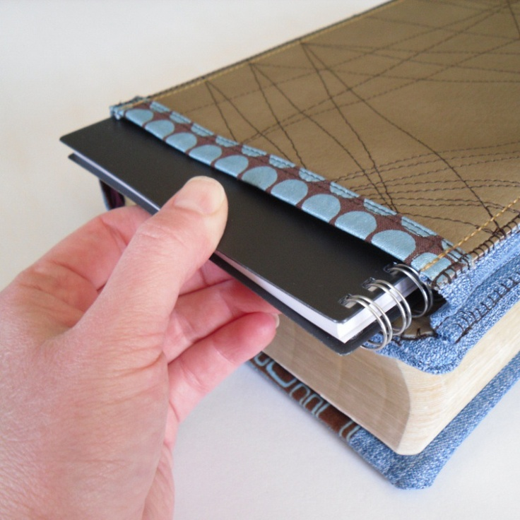 Bible cover notebook pocket. I wana make something like this for my new Bible!