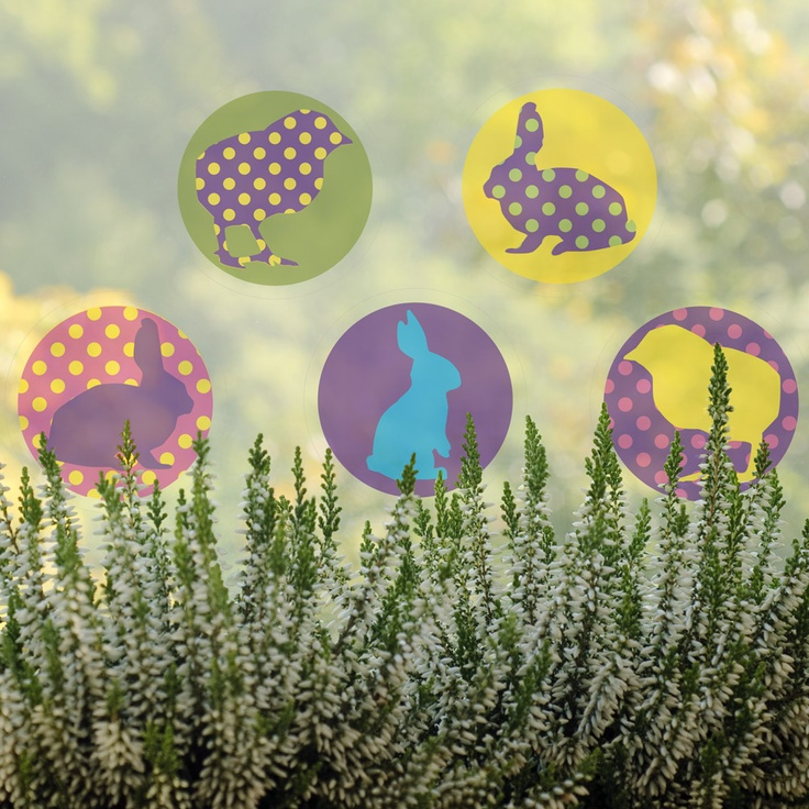 Spring animals - removable window decals, design by lepeeto