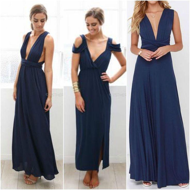 NEW Esther Boutique navy Khaleesi maxi dress size M medium #estherboutique # formaldress #formal #dress #wrap #navy #beautiful #maxi #fashion #australia #gigihadid #ebay #forsale #sizem #medium