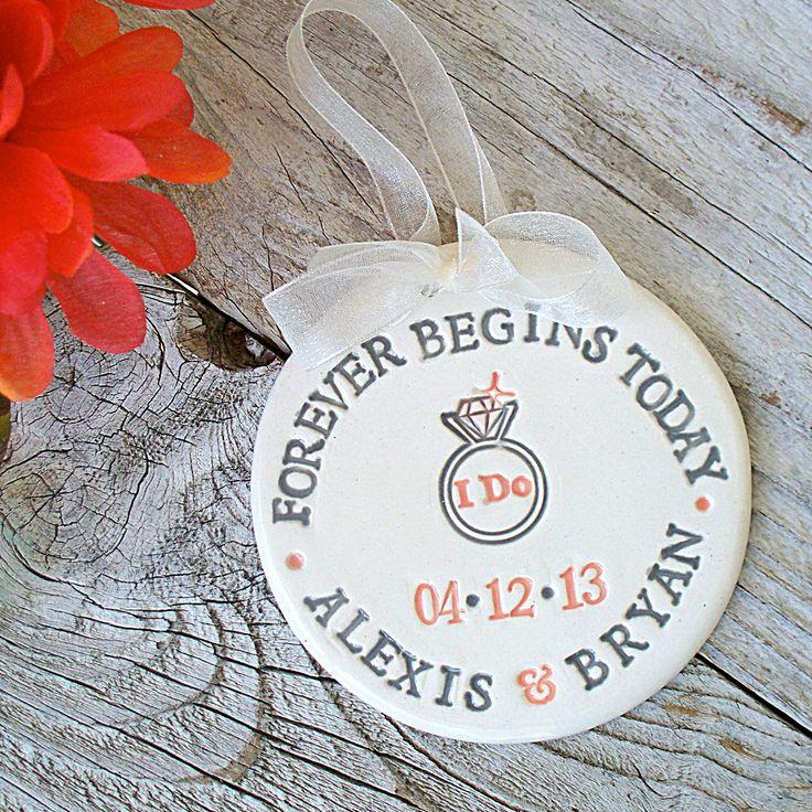 Personalized+Wedding+/+Engagement+Ornament++I+Do+by+SayYourPiece,+$13.00