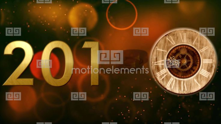 2018 with clock and Bokeh background 4K Stock Video Footage