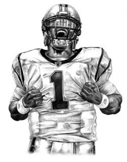 cam newton poster | Cam Newton Superman Lithograph Poster Print Drawing in Carolina