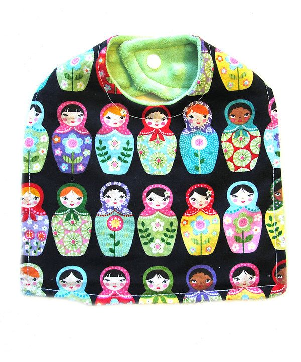 This Lollypop Ink Black Doll Bib by Lollypop Ink is perfect! #zulilyfinds