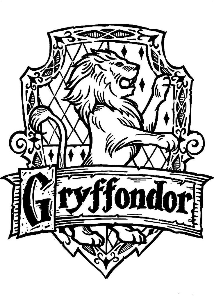 Download and Print Symbol Of Gryffondor A Standing Lion