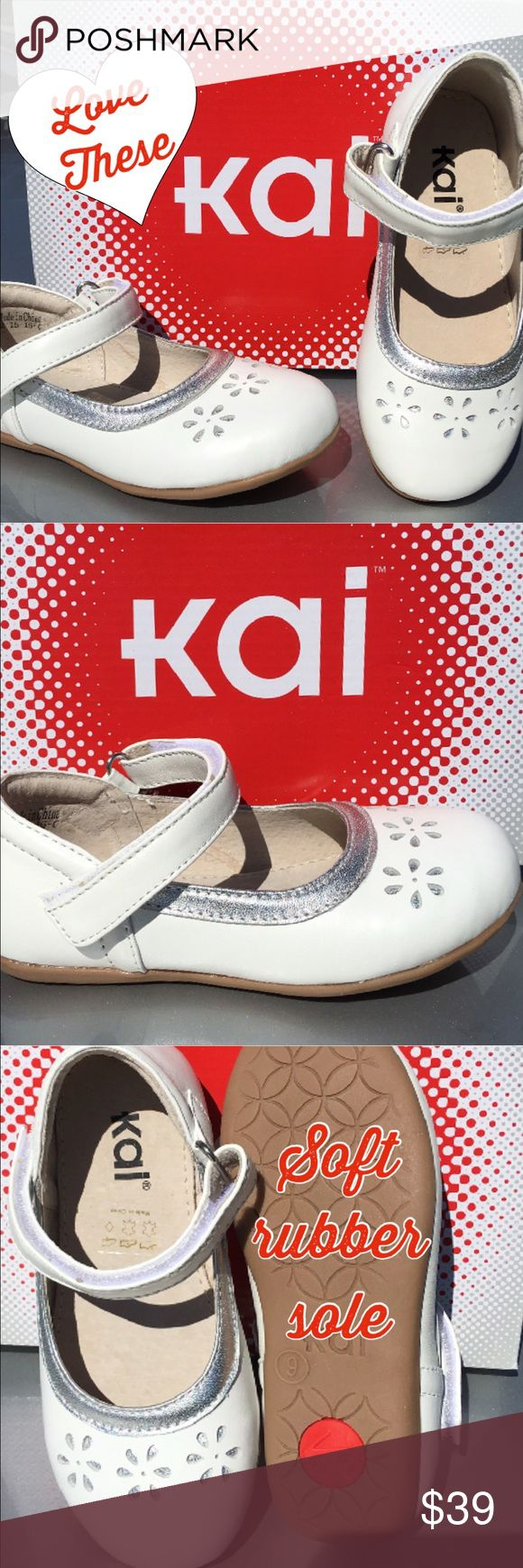 See Kia Run softest of Leathers for a Your girl🌹 See Kai Run Soft white and silver dress shoe with great rubber play sole. Such a sweet rich shoe. 💕🌹❤️💕🌹❤️💕💕💕💕 See Kai Run Shoes Dress Shoes