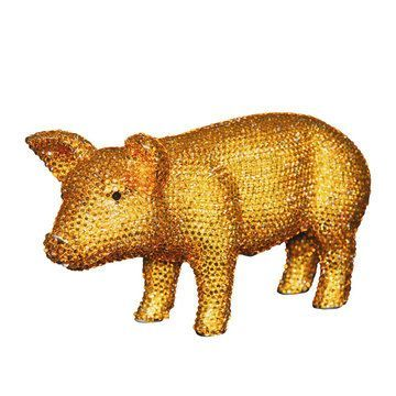 Products rhinestones and piggy bank on pinterest - Rhinestone piggy bank ...