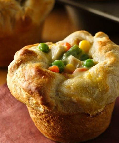 Mini Chicken Pot Pies With Bacon And Marjoram Recipe — Dishmaps