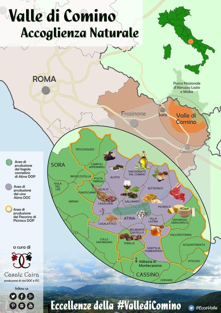 Eccellenze della #VallediComino map