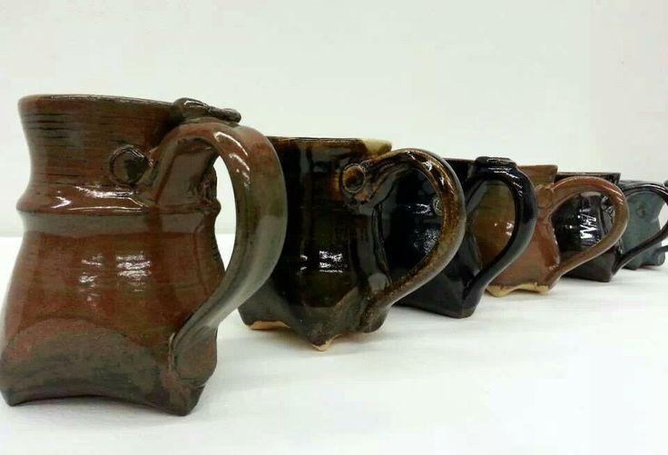 Funky footy mugs