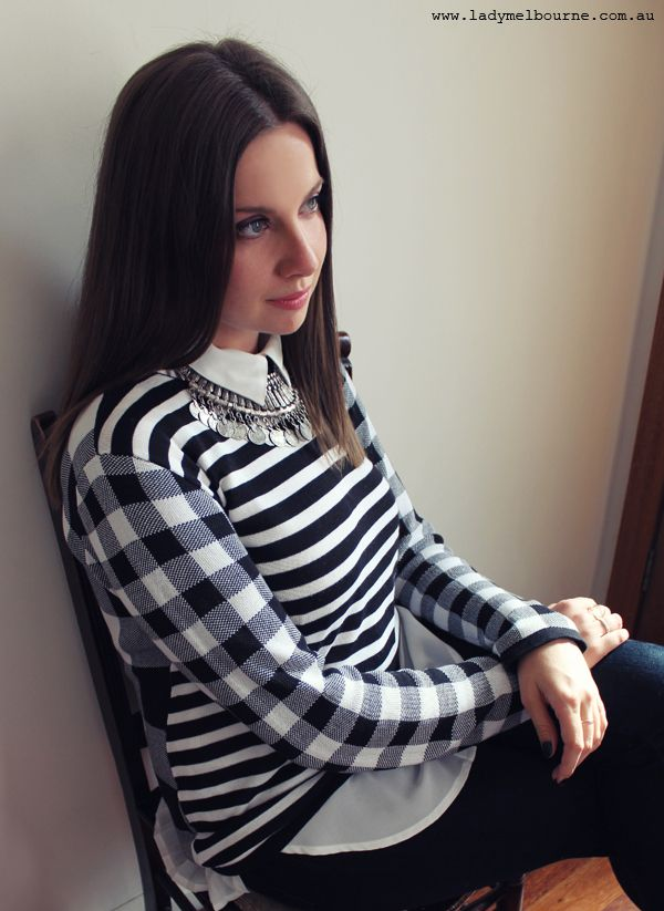 LADY MELBOURNE looks effortlessly chic in our Mish Mash Jumper. We love her support of Australian fashion labels!