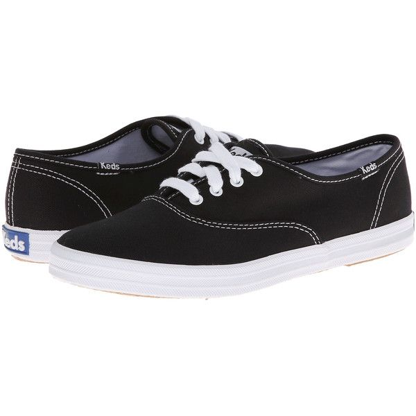 Women's KEDS Champion Cotton Canvas Sneakers (235 DKK) ❤ liked on Polyvore featuring shoes, sneakers, fashion sneakers, keds sneakers, white and black shoes, cotton shoes, keds footwear and plimsoll shoes