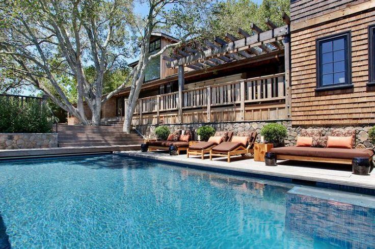 Elegáns ranch otthon - gyönyörű kertek és teraszok, meleg, otthonos enteriőrök. Lakberendezés, építészet: Urrutia Design