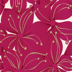 allen + roth Red Strippable Non-Woven Paper Prepasted Classic Wallpaper