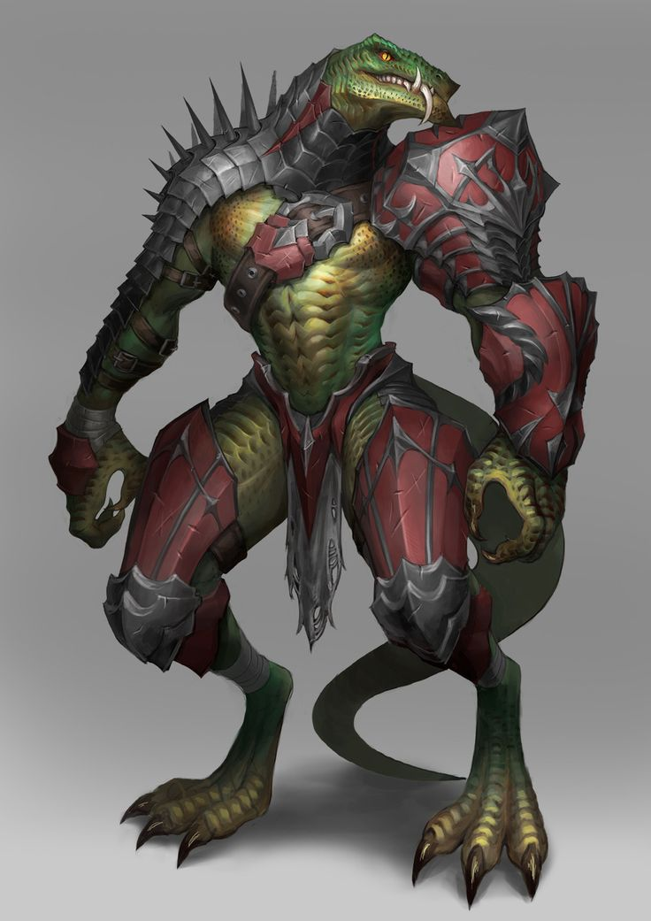 ArtStation - lizard man, MinWook Park