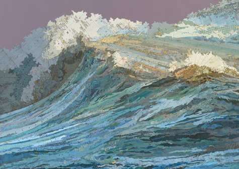 The Rachel's Wave, 2011Collage Art, Matthewcusick, Matthew Cusick, The Ocean, Ocean Waves, Old Maps, Maps Collage, The Waves, Painting