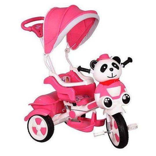 Babyhope Little Panda Üç Teker İtmeli Bisiklet. Plastik gövde, ebeveyn kontrolü. Tenteli ve müzikli. Koruma barıyeri, eva tekerlekler. Hitap Ettiği Yaş Aralığı: 1-4 yaş   Sepete at; http://www.bebekobebek.com/babyhope-little-panda-uc-teker-itmeli-bisiklet-pembe