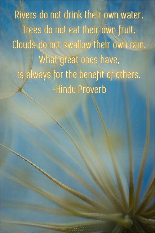 Hindu Proverb