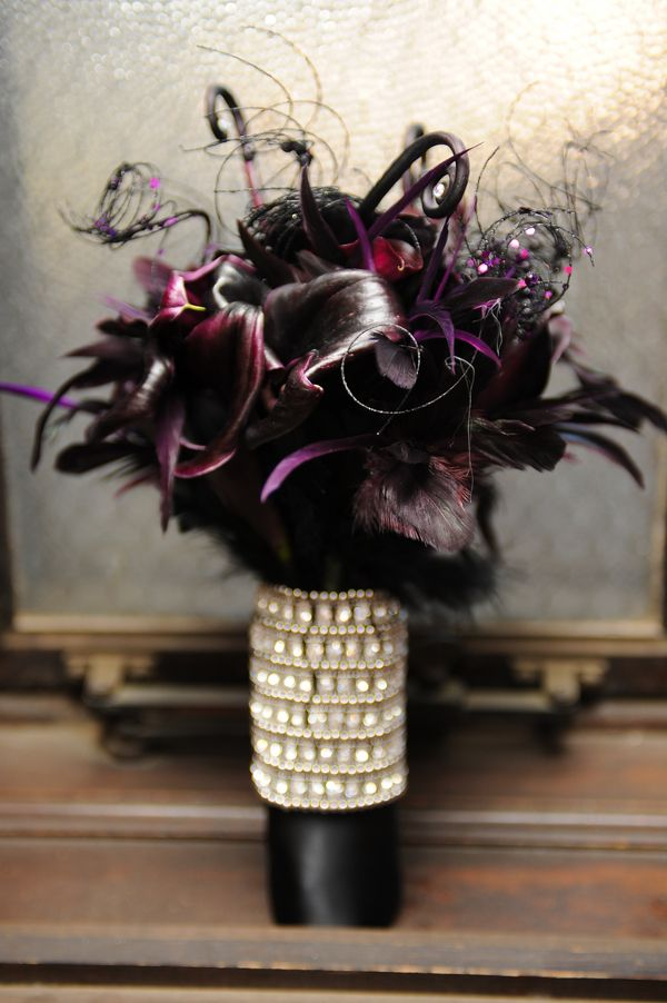 a creepy and elegant gothic wedding - Halloween Wedding Centerpieces