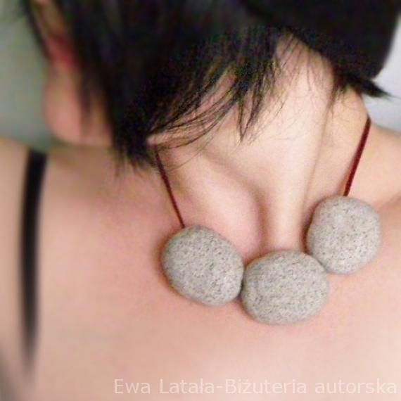 Minimalist and funny NECKLACE  with massive coral-shaped stones made of granite mass. by EcoDyeing on Etsy