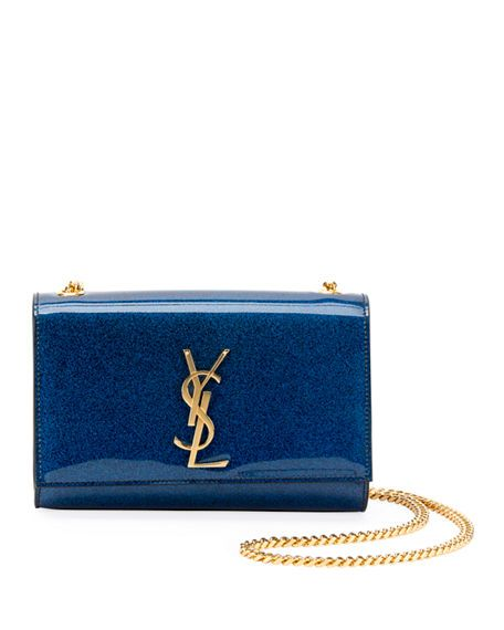 78a3429a3bb2c Kate Monogram YSL. Kate Monogram YSL Small Glitter Patent Crossbody Bag  Saint Laurent Handbags, Saint Laurent Bag,