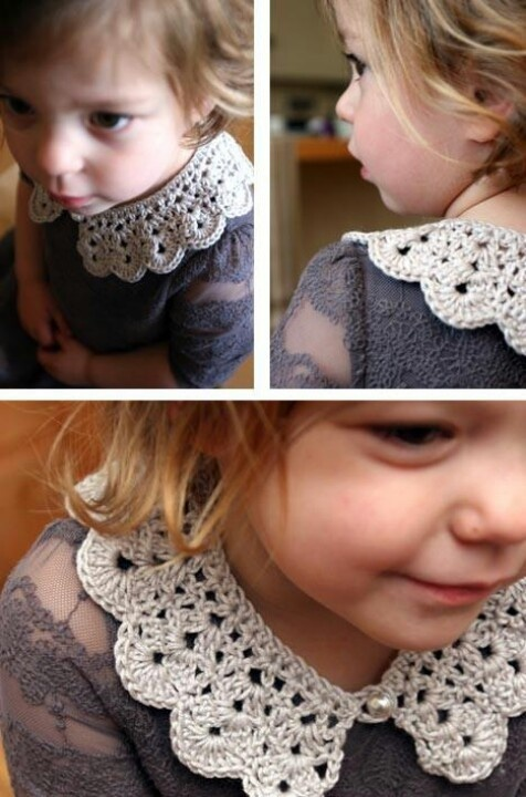 Crochet Collar- These would be cute to crochet ahead of time if you are expecting, but don't know the gender. They could make gender neutral onsies very girly!